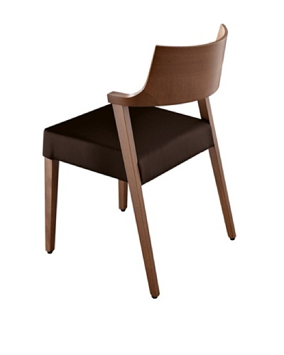 Domitalia Lirica Chair, Black/Walnut
