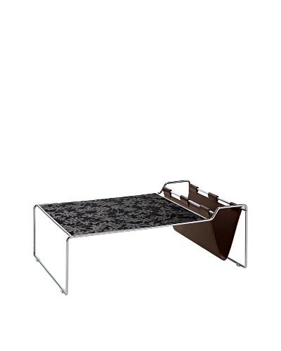 Domitalia Bijou Rectangular Coffee Table, Chrome/Black