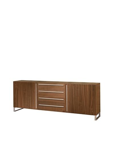 Domitalia Life 2C Sideboard, Silver/Walnut