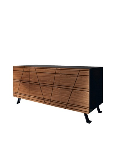 Domitalia Verve Sideboard, Black/Walnut