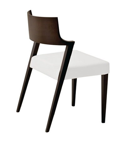 Domitalia Lirica Chair, White/Wenge