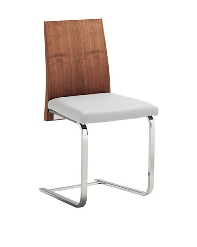 Domitalia Jeff Chair, White/Walnut