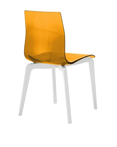 Domitalia Gel-L Chair, Transparent Orange/White