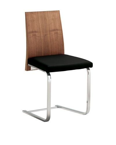 Domitalia Jeff Chair, Black/Walnut