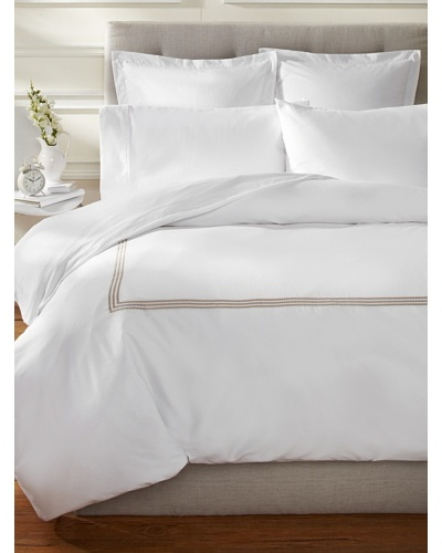 Downright Windsor Braid 400 TC Sateen Embroidered Duvet Cover