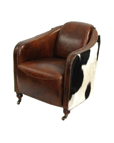 Dream Home Designs Artsome Leather & Cowhide Armchair