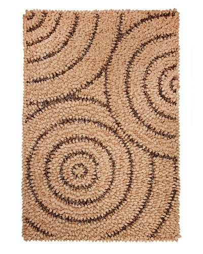 Dreamweavers Rain Drop Rug, Sand/Brown, 6' x 9'