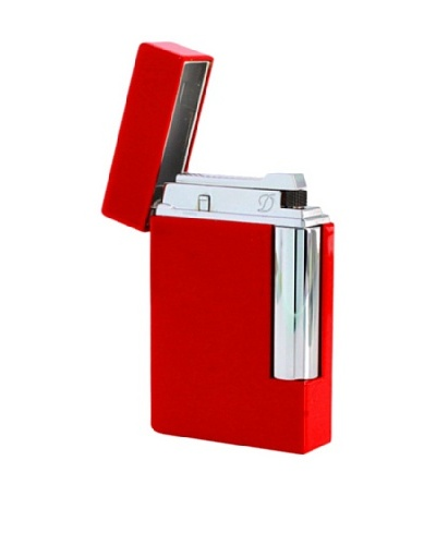 DuPont Lighters Lacquer and Chrome Lighter Excluding Lighter Fluid, Torch Flame, Red
