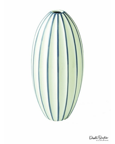 Dwell Studio by Global Views Ribbed Egg Vase, Grey/White