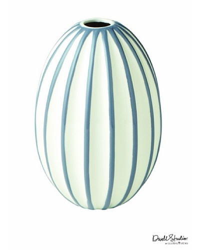 Dwell Studio by Global Views Ribbed Vase, White/Grey, Small