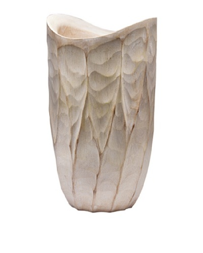 Dynasty Gallery Hand Carved Flame Vase