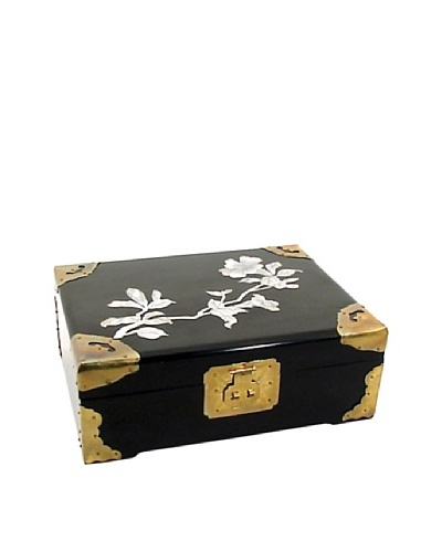 Dynasty Gallery Lacquered Jewelry Box with Mother of Pearl