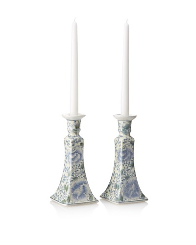 Dynasty Gallery Set of 2 Porcelain Candle Holders