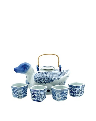 Dynasty Gallery Antique Replica Duck Teapot and Cup Set