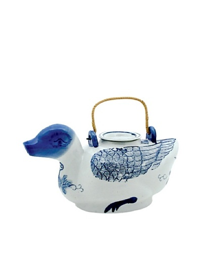 Dynasty Gallery Antique Replica Duck Teapot