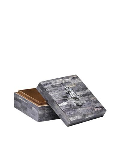 Dynasty Gallery Buffalo Horn Box with Seahorse