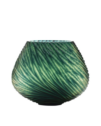 Dynasty Gallery Hand-Faceted Mouthblown Small Glass Vase