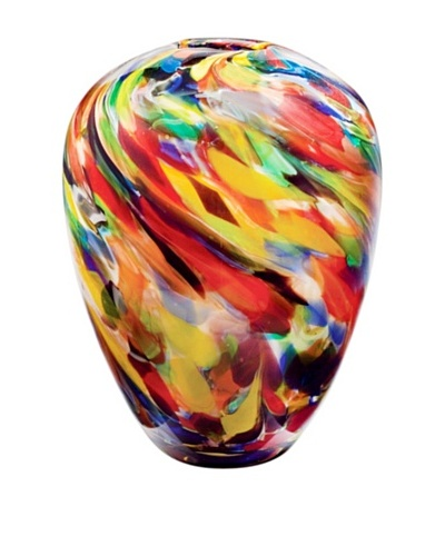 Dynasty Gallery Mouth-Blown Painter's Palette Glass Vase