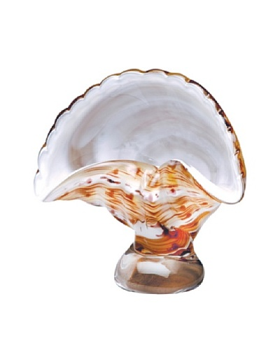 Dynasty Gallery Mouth-Blown Glass Scallop Seashell