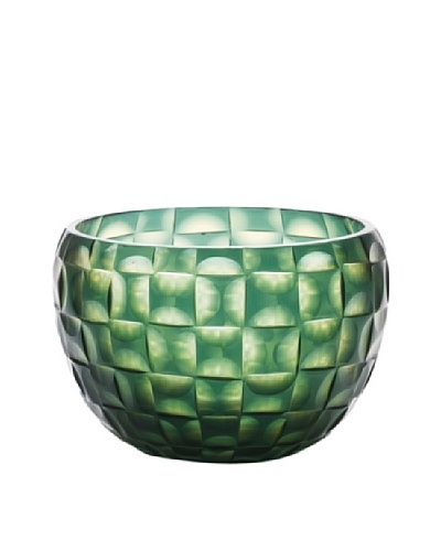 Dynasty Gallery Hand-Faceted Mouthblown Glass Bowl