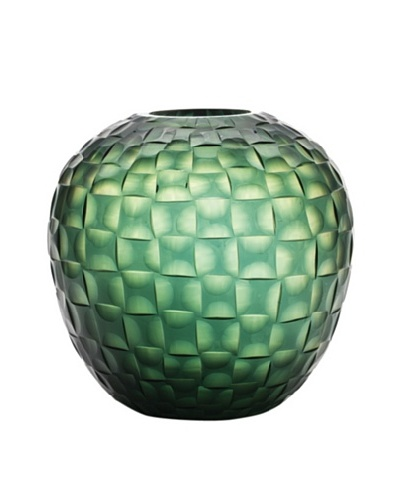 Dynasty Gallery Hand-Faceted Mouthblown Large Glass Vase