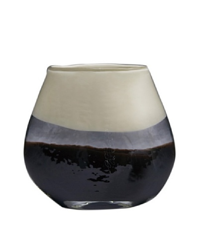 Dynasty Glass Capri Collection - Pillow Vase - Coffee