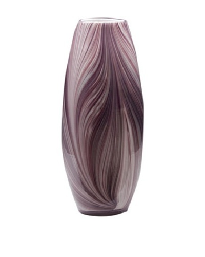Dynasty Glass Viola Collection Tall Vase, Violet Feather