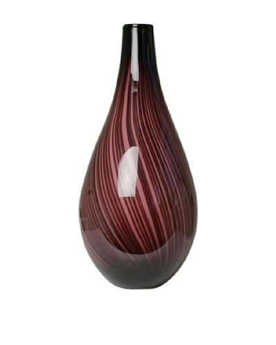 Dynasty Glass Roma Collection Vase, Purple
