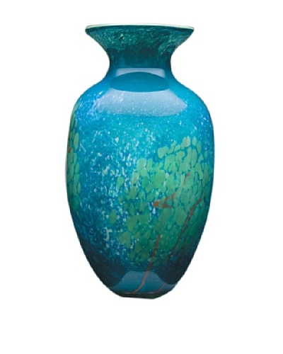 Dynasty Glass Firenze Collection Vase, Tree of Life