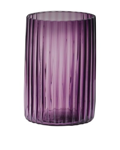 Dynasty Glass Viola Collection - Cylinder Groove Vase - Violet