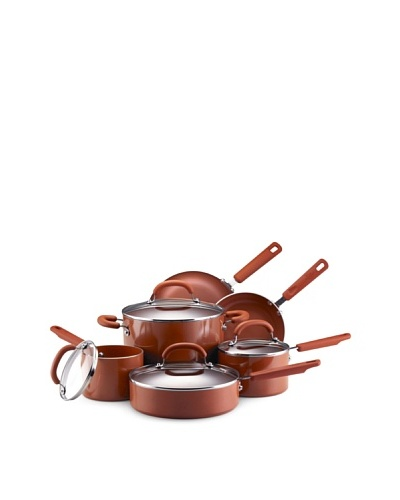 Earth Pan II by Farberware 10-Piece Nonstick Cookware Set [Terra Cotta]