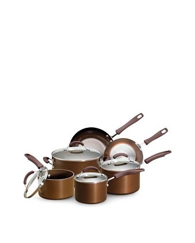 EarthPan Plus Nonstick 10-Piece Cookware Set, Bronze