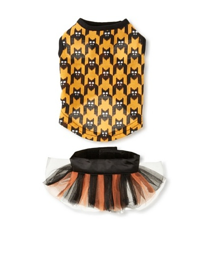 East Side Collection Houndstooth Bat Tank & Tutu Set