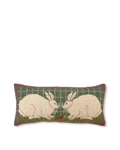Warren Kimble Bunny Couple 12 x 26 Hook Pillow
