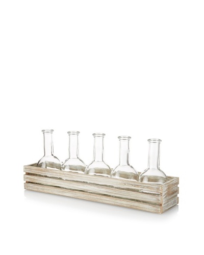 5-Bottle Crate, Whitewash