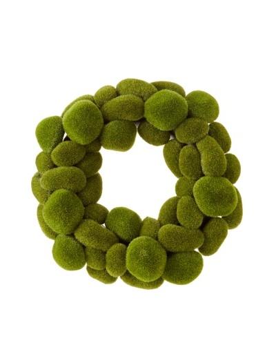 Faux Moss Wreath, Green