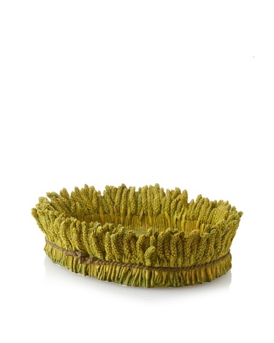 Wheat Oval Tray/Planter, Green