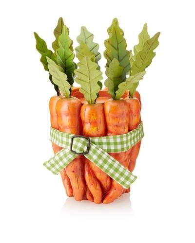 Carrot Bundle Candle Holder, Orange/Green