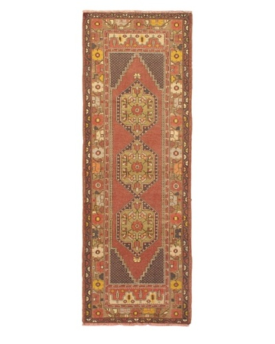 eCarpet Gallery Anatolian Rug, Beige/Dark Copper, 3' 3 x 9' 3 Runner