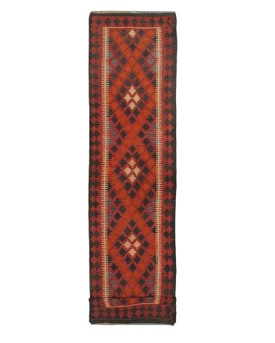 eCarpet Gallery Afghan Shiravan Kilim, Dark Brown/Red, 2' 11 x 12' 6 Runner