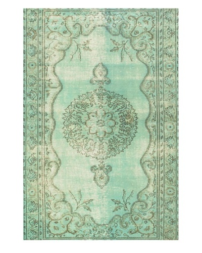 eCarpet Gallery Color Transition Rug, Light Aqua, 5' 3 x 7' 1