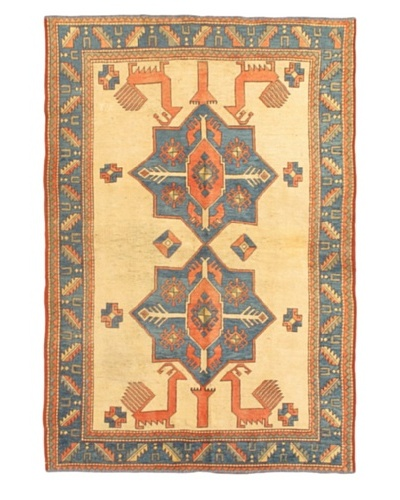 eCarpet Gallery Royal Ushak Rug, Blue/Cream, 5' 1 x 7' 6