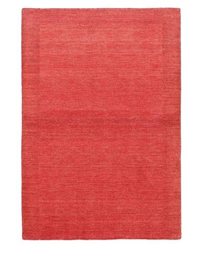 eCarpet Gallery Luribaft Gabbeh Rug, Light Burgundy/Red, 4' x 6'