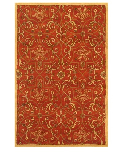 eCarpet Gallery Everest Garden Rug, Copper/Light Khaki, 5' x 8'
