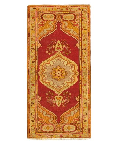eCarpet Gallery Vintage Anatolian Rug, Light Grey/Red, 3' 2 x 6' 1