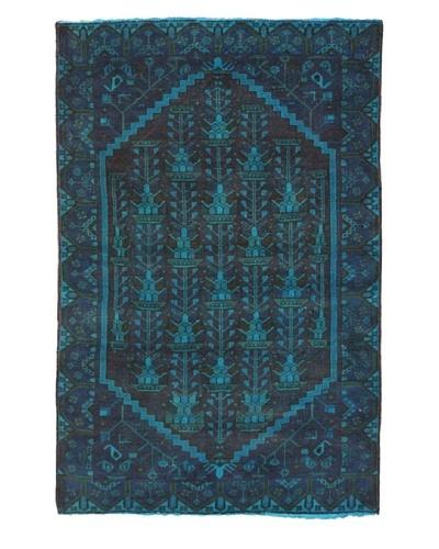 eCarpet Gallery Color Transition Rug, Blue/Burgundy, 4' 2 x 6' 7