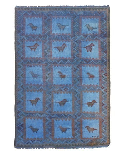 eCarpet Gallery Color Transition Kilim, Blue, 3' x 4' 1