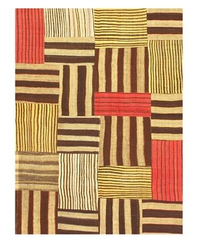 eCarpet Gallery Bohemian Kilim Rug, Dark Brown/Light Camel, 5' x 6' 9