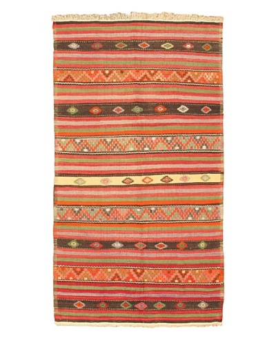 "eCarpet Gallery Kashkoli Kilim, Light Black/Orange, 5' 6"" x 10' 2"""