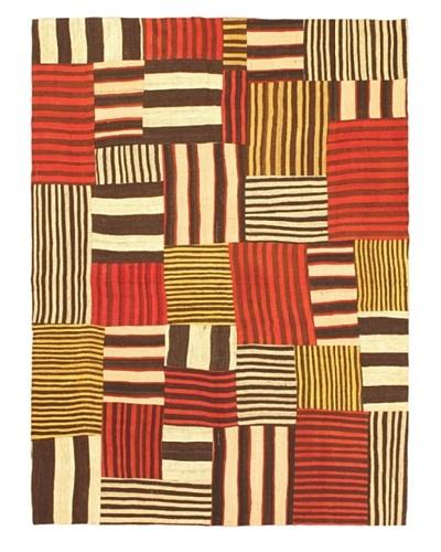 "eCarpet Gallery Bohemian Kilim Rug, Cream/Red, 4' 1"" x 6' 5"""